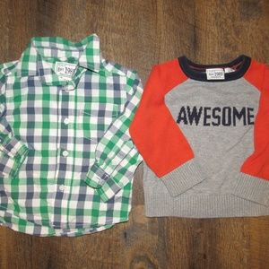 Childrens place shirts boy size 12-18 months